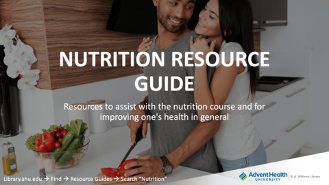 Resources to assist with the nutritional course and for improving one's health in general