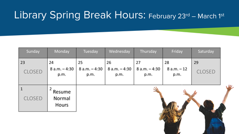 Library Spring Break Hours